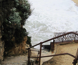 beach, indie, and stairs image