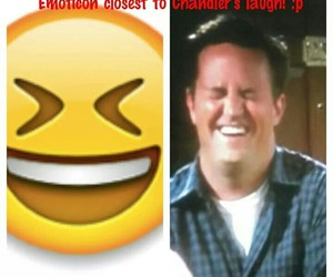 chandler bing, emotion, and laugh image