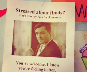 chuck bass, finals, and gossip girl image