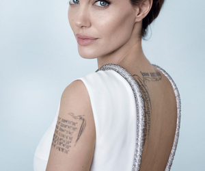 Angelina Jolie, actress, and tattoo image