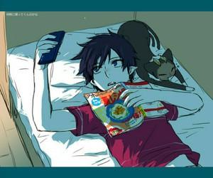 anime, kuro, and ao no exorcist image