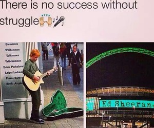 ed sheeran, music, and struggle image