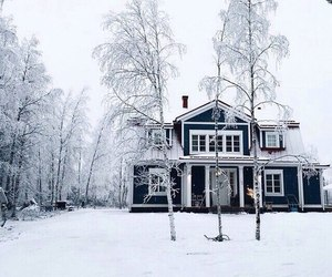 winter, home, and snow image