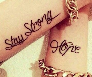 hope, stay, and strong image
