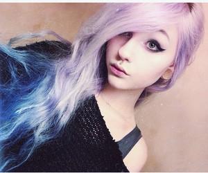 dyed hair, alt girl, and kawaii image
