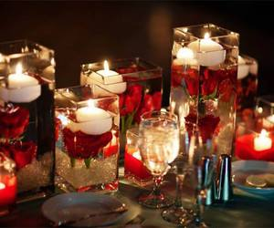 centerpiece, glass, and romantic image