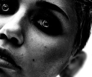 beautiful, black girl, and black white image