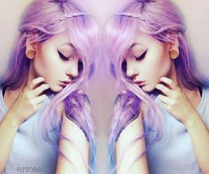 alt girl, kawaii, and dyed hair image