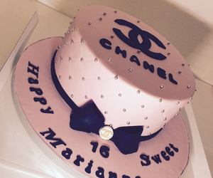 cake, birthday, and chanel image