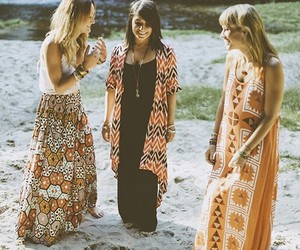 dress, girl, and hippie image