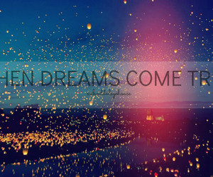 dreams, lights, and quote image