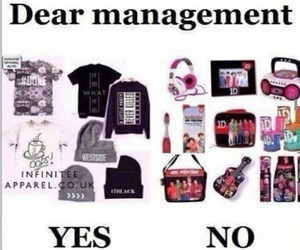 management, stuff, and one direction image