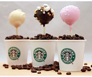 coffee, cakepops, and starbucks image