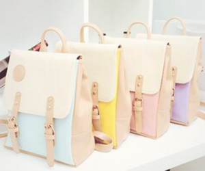 bag, pastel, and backpack image
