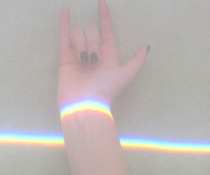 rainbow, grunge, and pale image