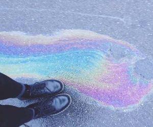 rainbow, grunge, and shoes image