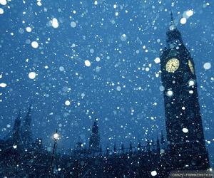 london, christmas, and snow image