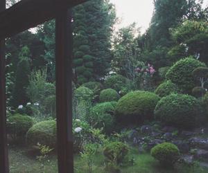 dark, trees, and garden image