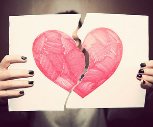 broken, heart, and hipster image