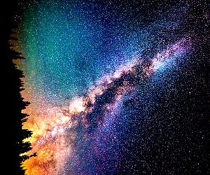 beautiful, forest, and space image