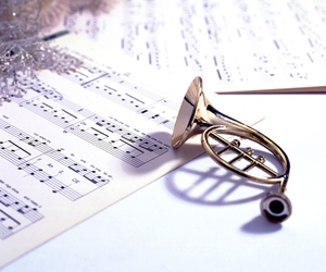 horn, instrument, and music image