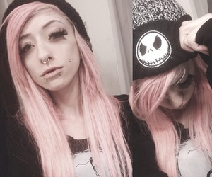 dyed hair and pink hair image