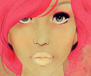 illustration, pink, and pretty image