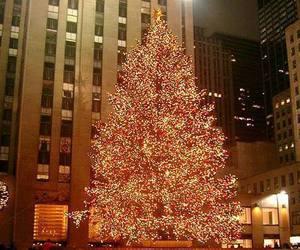 christmas, new york, and city image