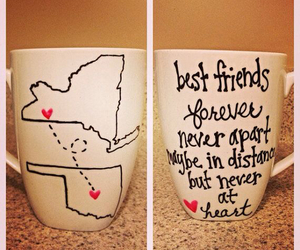 best friends, diy, and mug image