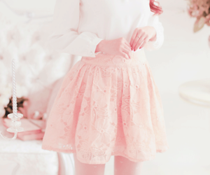 pink, kfashion, and skirt image