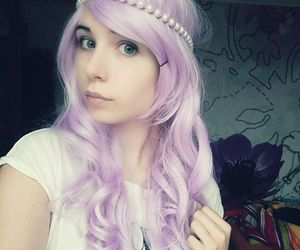 alt girl, pastel hair, and dyed hair image
