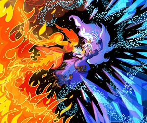 adventure time, flame princess, and ice image