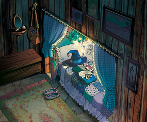 bed, cute, and bedroom image
