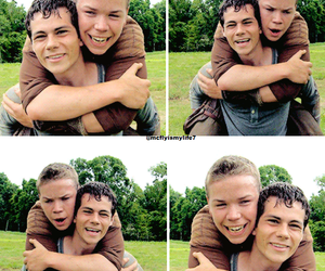 will poulter, the maze runner, and dylan o'brien image
