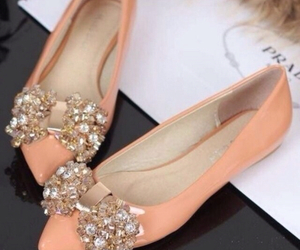 fashion, peach, and shoes image