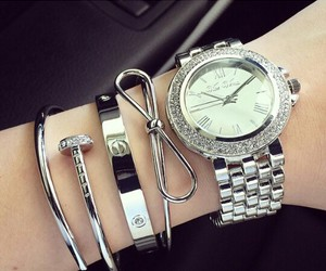 bracelet, cartier, and silver image