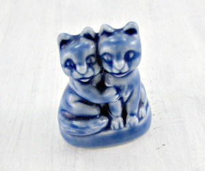 wade whimsicals, wade england pottery, and gift for cat lover image
