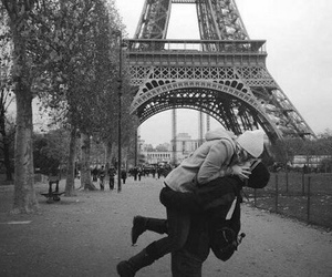 kiss, paris, and couple image
