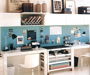 office, interior, and desk image