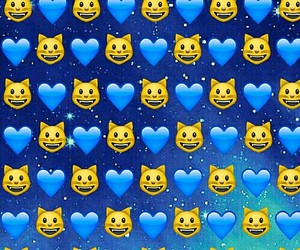 emoji, cat, and wallpaper image