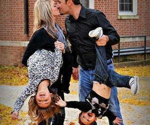 family, kiss, and children image