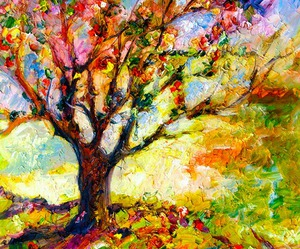 art, colorful, and tree image