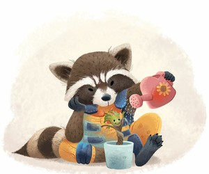 guardians of the galaxy, the groot, and marvel rocket raccoon image