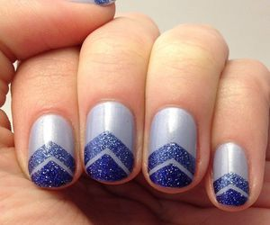 blue, nails, and design image