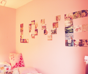 love, pink, and room image