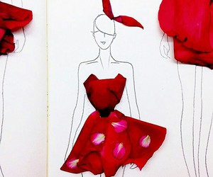 art, fashion, and red image