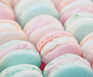 food, pastel, and macaroons image