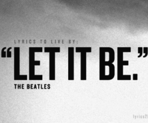 the beatles, let it be, and Lyrics image