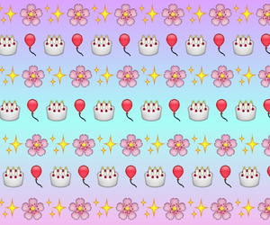 emojis, birthday, and flowers image