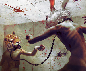 rabbit, tiger, and blood image